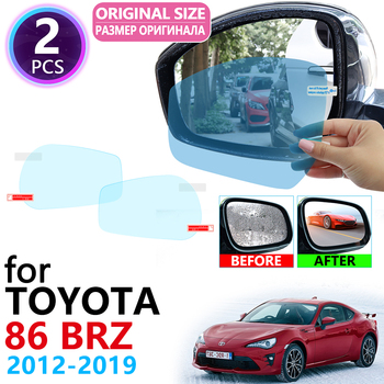 for Toyota 86 GT86 FT86 Scion FR-S Subaru BRZ 2012~2019 Full Cover Rearview Mirror Anti-Fog Rainproof Anti Fog Film Accessories image