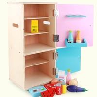 15Pcs Kids Role Play Fridge Toy Mini Refrigerator Playset Educational Home Appliance Toy Birthdaty Gifts 2020