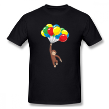 100% cotton Curious George Birthday print casual mens o-neck t shirts fashion Men's Basic Short Sleeve T-Shirt цена