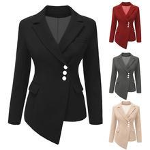Autumn Winter Blazer Women Casual Double Breasted Blazers Women Long S
