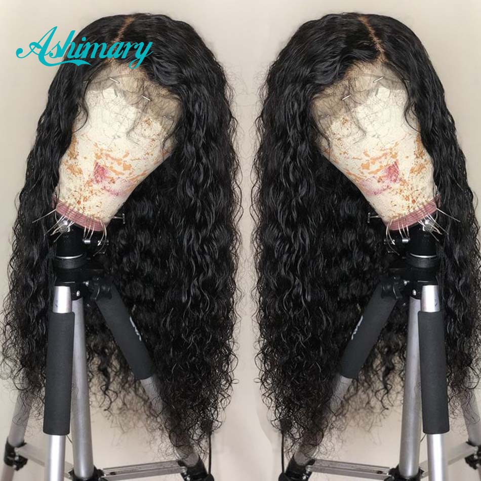 Wigs Hair-Wig Lace-Frontal Baby-Hair Water-Wave Black-Women Brazilian Pre-Plucked 13X4