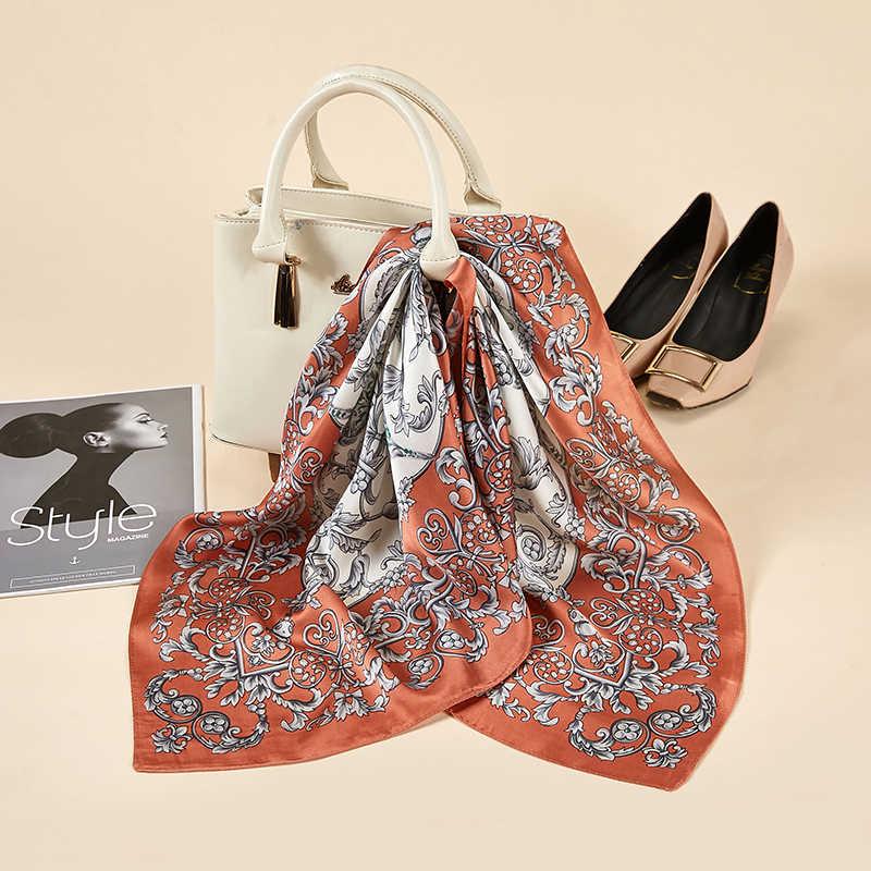 2020 novo lenço de seda quadrado mulheres trabalho moda primavera verão lenços decorativos neckerchife 70*70 centímetros pequenos lenços de presente para a senhora