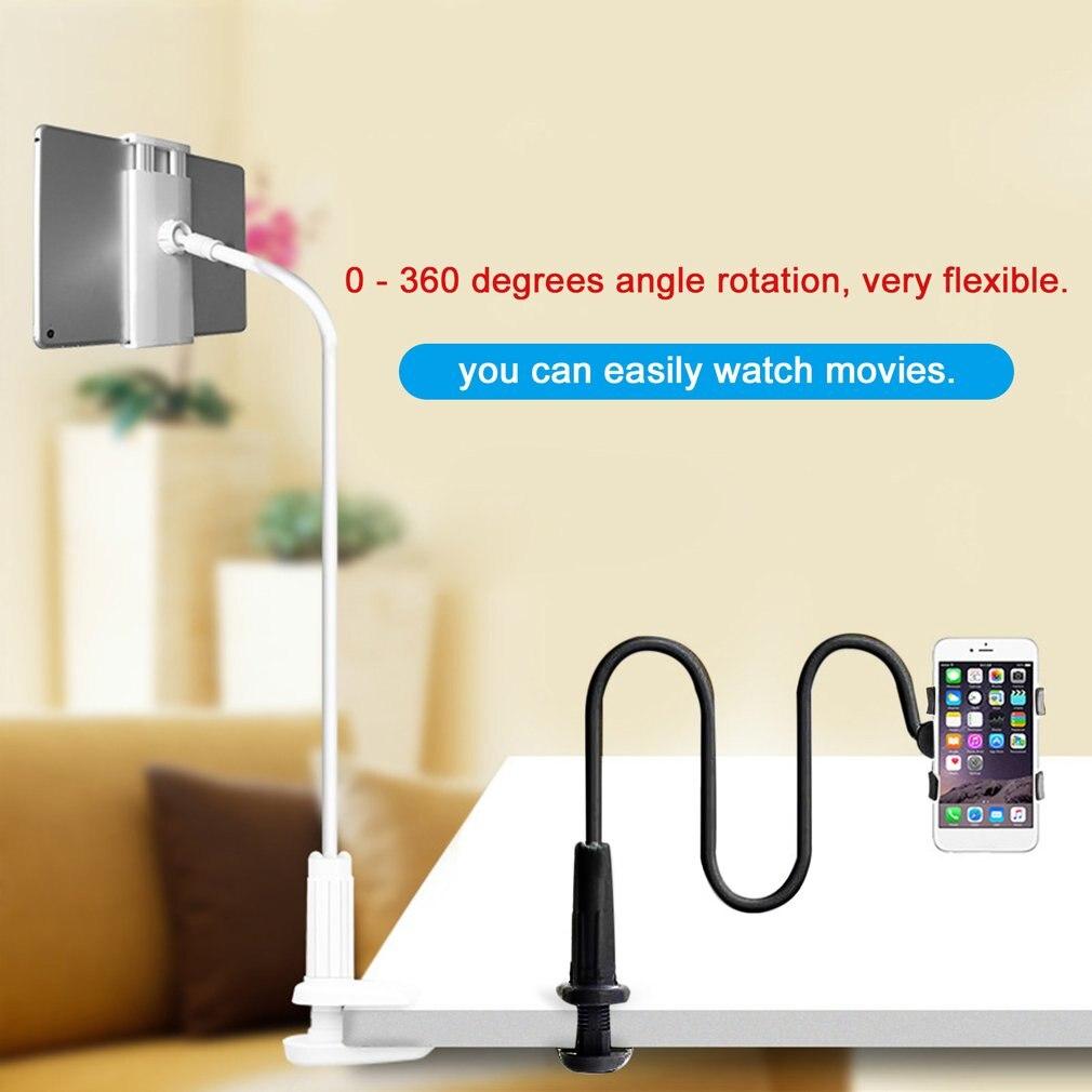 Tablet titular cama preguiçoso tablet montagem universal padrão preto branco desktop comprimidos suporte de rotação 360 graus dropshipping