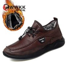 WWKK Men Hiking Shoes Waterproof Outdoor Sport Keep Warm Shoes