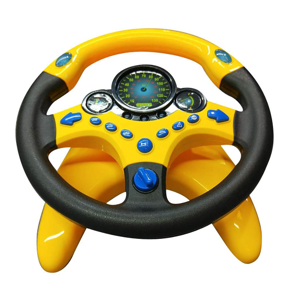 Simulation Steering Wheel With Light Baby Musical Developing Educational Toys Electronic Vocal Toys For Children Birthday Gifts