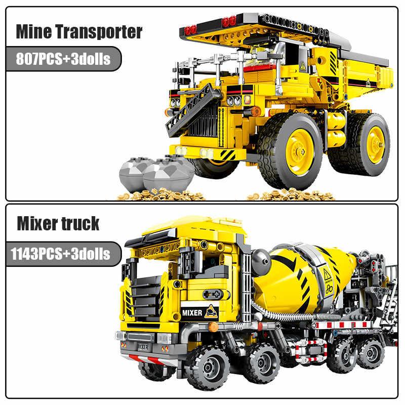 SEMBO BLOCK City Engineering Bulldozer Kran Technik Auto Lkw Bagger Roller Bausteine ziegel Bau Spielzeug