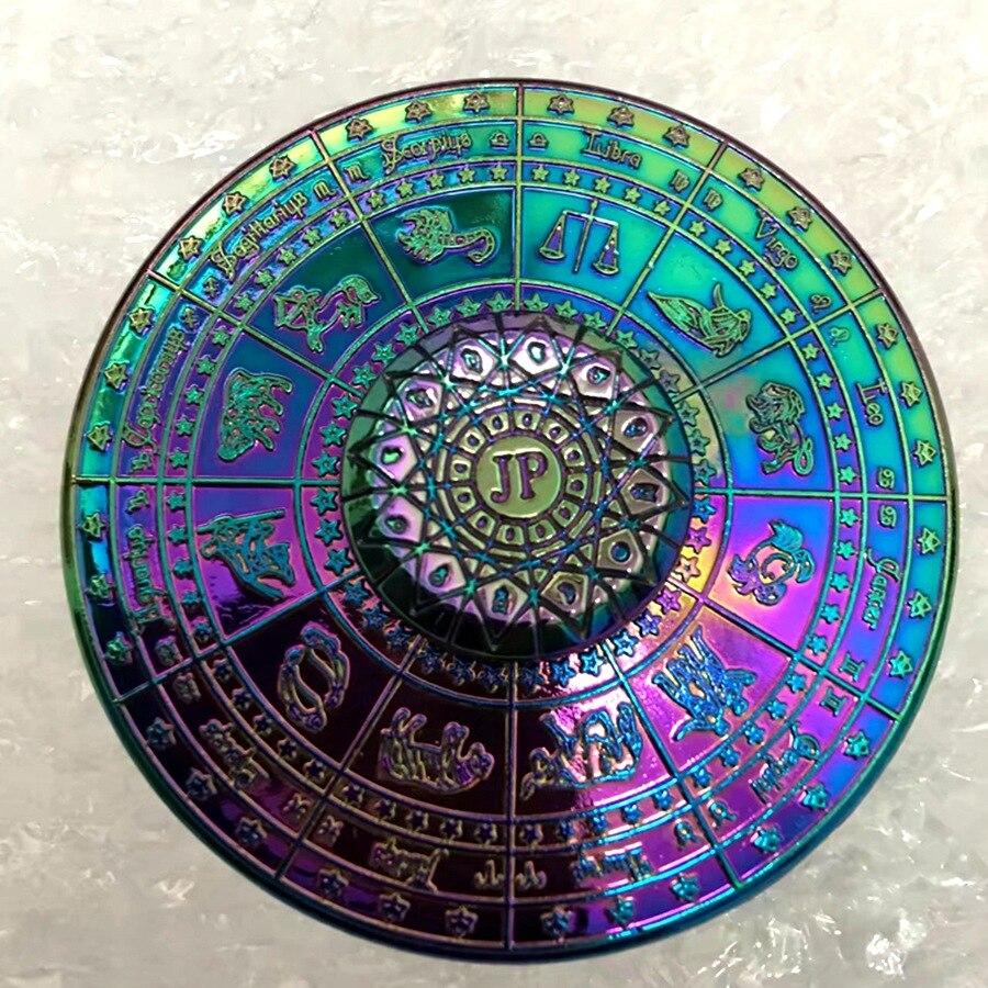 Egypt Twelve Constellation Compass Fidget Spinner Kirsite Hand Spinner EDC Autism ADHD Stress Relief Fingertip Gyro Toys