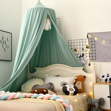 Bed Mosquito Net for Kids Solid Color Dome Bed Canopy Children Room Decoration Bedding Crib Netting Baby Tent Photography Props