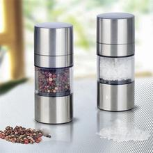 Portable Manual Salt Pepper Spice Mill Grinder Kitchen Accessories High Quality Stainless Steel Spice Milling Gadget Tool convenient modern stainless steel acrylic pepper spice sea salt mill grinder muller silver
