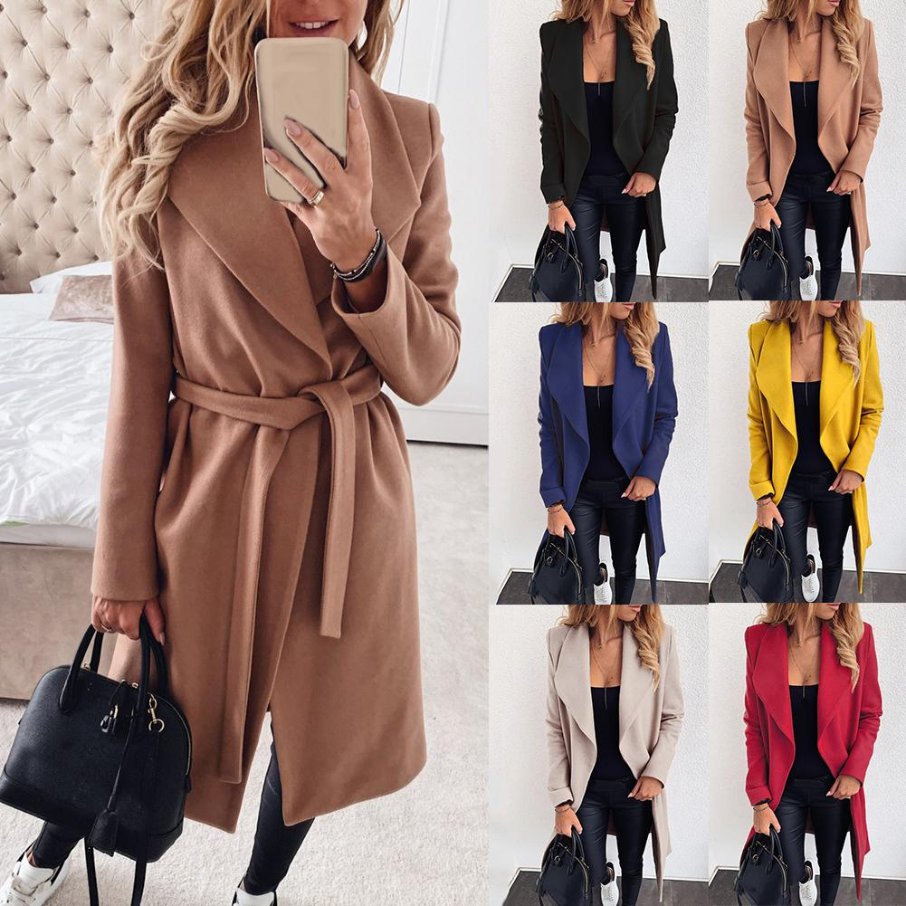 Sweater Coat Cardigan Windbreaker Knit Autumn Elegant Winter Women Long Loose Wild title=