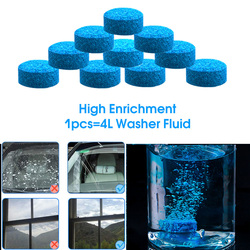 10PCS=40L Car Solid Cleaner Concentrated Effervescent Tablets Glass Water Window Windshield Solid Washer Household Detergent