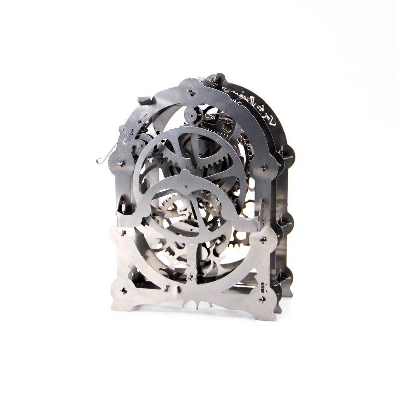 Bricolage métal modèle Puzzle mécanique engrenage entraînement pendule horloge entraînement travaux assembler Puzzle modèle Kit de construction jouet pour enfants adulte