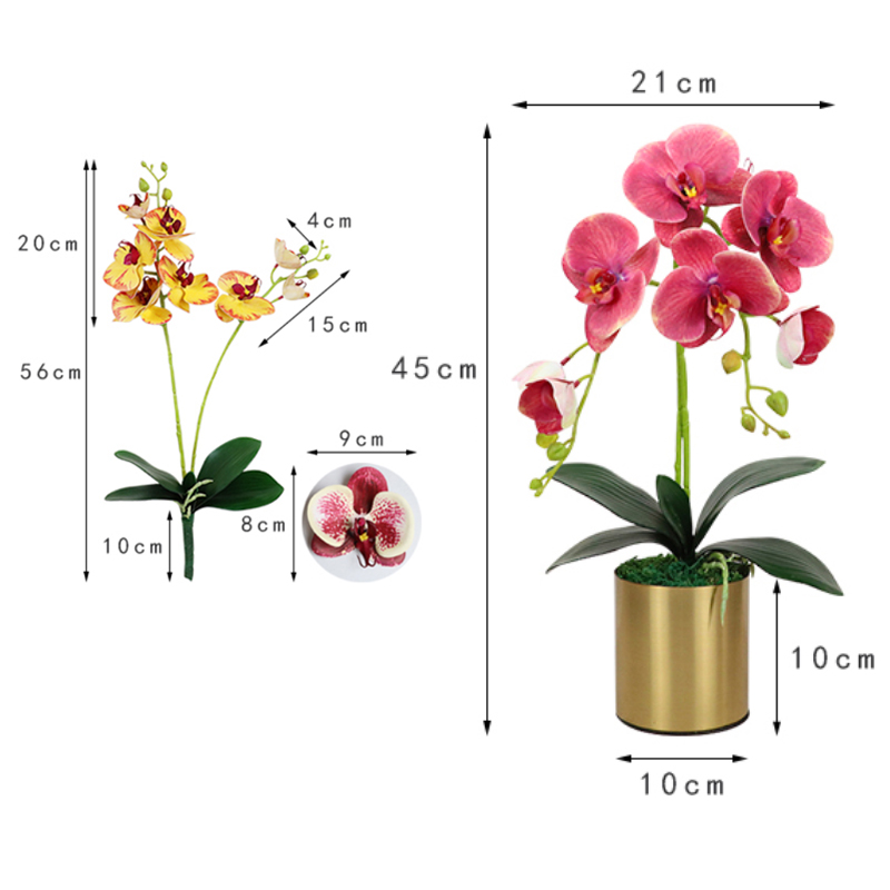 Artificielle White Orchid plant en pot 45 cm Tall
