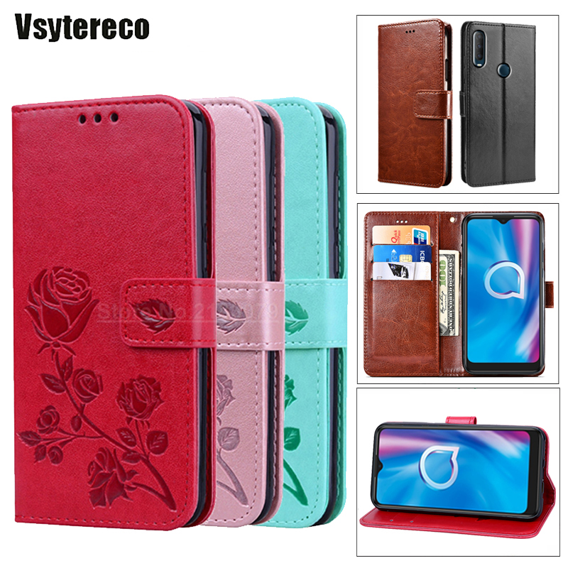 For Alcatel 1X 1C 1S 2019 1SE 2020 Alcatel Case Flip Wallet Cover for Alcatel 3 3V 3X 3L 2020 Phone Case on Alcatel 1A 1B Hoesje(China)