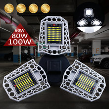 E27 led電球60ワット80ワット100ワット照明高強度変形可能なランプ防水mi ledスマート電球工業用ledガレージライト