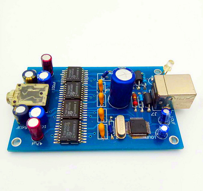 Fever 4 And TDA1543 Decoder USB Mobile Phone Tablet OtgDAC External Sound Card Bile Decoding Board Hihi