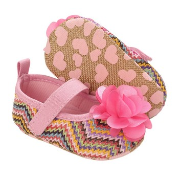 Baby Girls First Walkers Shoes Newborn Infant Cute Flower Fashion Soft Soled Shoes Toddler Kids Anti-Slip Shoes image