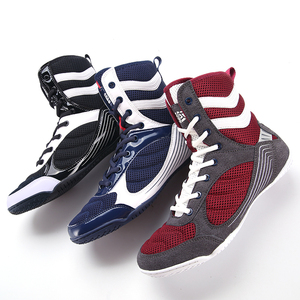 Новая Профессиональная боксерская обувь Для мужчин высокое качество дышащий борьба обувь Размеры; Большие размеры 36-45 светильник Вес бокс ...