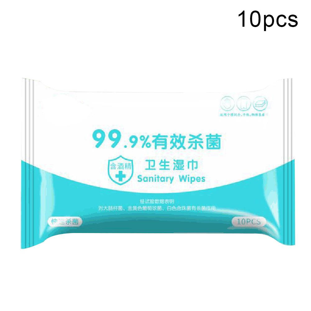 New 10Packs Alcohol Wipes Disposable Sterilization Disinfection Antibacterial Alcohol Wet Wipes