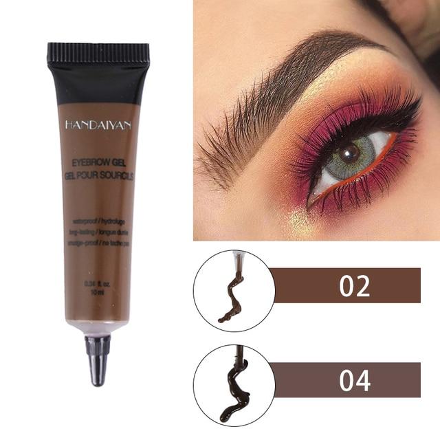 Natural 6 Colors Liquid Dyeing Eyebrow Cream Set Waterproof Durable Brown Tint Eyebrow Henna Mascara Eyebrows Paint Makeup 3