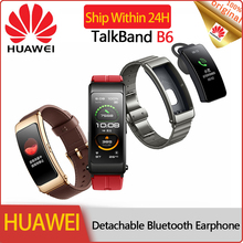 Huawei Talkband B6 Phone Wristband Fit Fitness Band Tracker Cardio Activity High-end Smart Bluetooth Bracelet Answer Dial Call