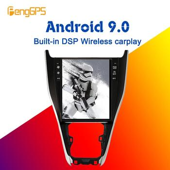 12.1''Tesla Android 9.0 PX6 4+64GB Built-in DSP Wireless CARPLAY Car multimedia Radio For Toyota Harrier 2013 - 2018 GPS Navigation Head unit No DVD Player