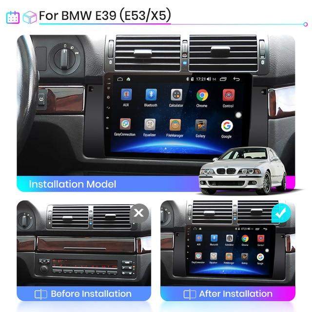 Junsun V1 pro 2G+128G For 5 Series BMW E39 Android 10 X5 E53 Car Radio Multimedia Video Player Navigation GPS 2 din dvd