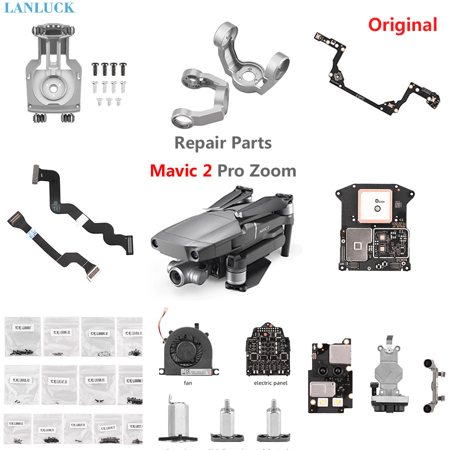 Repair Parts for DJI Mavic 2 Pro Zoom Flex Signal Ribbon Cable Gimbal Mount Yaw Arm Roll Bracket Front Arm Spare Part