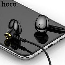 HOCO 3.5mm סופר בס אוזניות אוזניות לxiaomi Huawei סמסונג Earbudz עם מיקרופון משחקי אוזניות