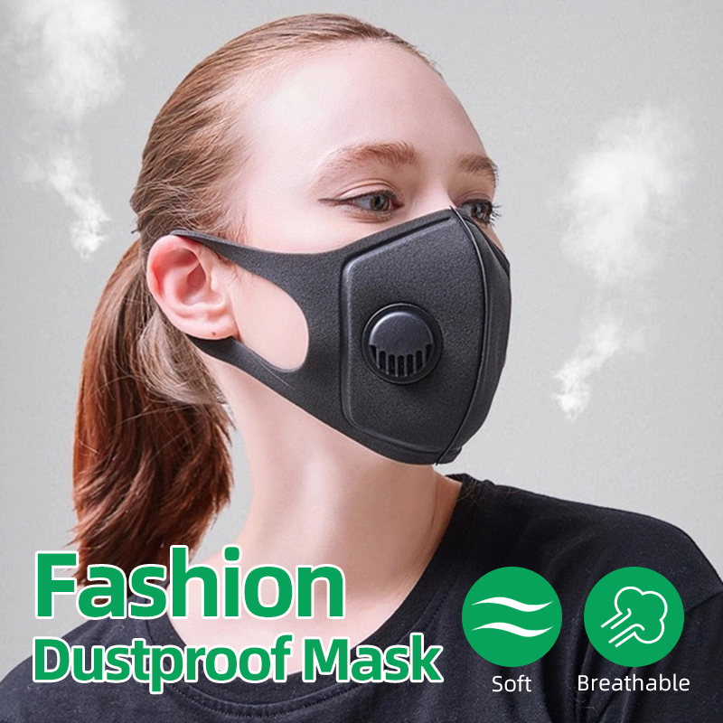 Dustproof Mask Anti Air Dust Smoke Pollution Sponge Mask Washable Respirator Mask Made For Men Women