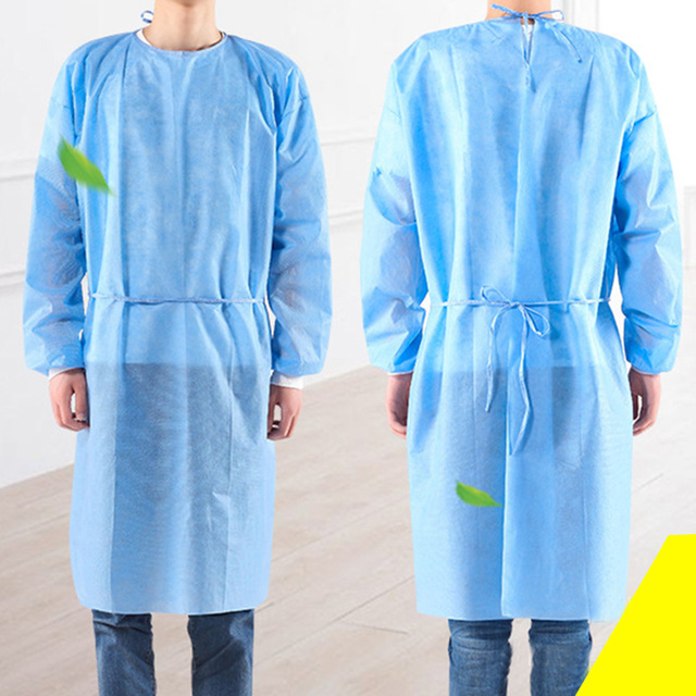 10pcs Disposable Bandage Coveralls Gown Dust-proof Isolation Clothes Labour Suit Non-woven Security Protection Clothing PPE SUIT 2
