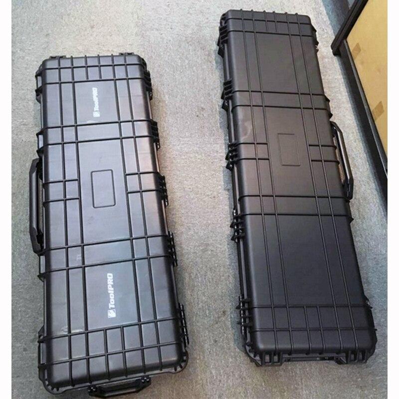 Купить с кэшбэком long case gun case large toolbox Impact resistant sealed waterproof case equipment 88 sniper rifle case with foam shipping free