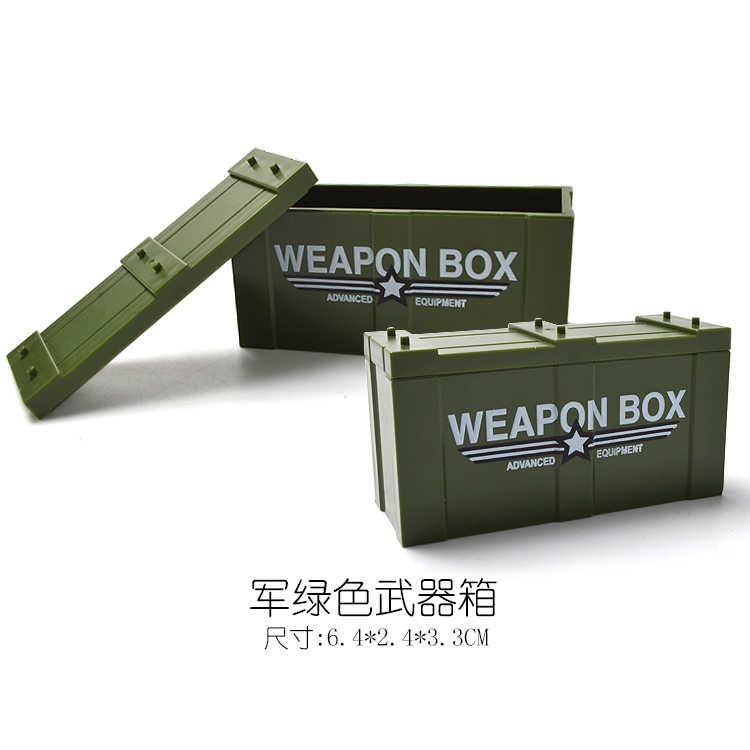 Blocos de Caixa De Arma Militar MOC WW2 Única Venda Building Blocks Brinquedos Para Crianças Compatíveis com Bloco Militar Do Exército GOLPE