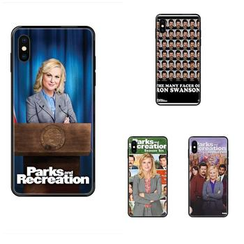 Tv Show Parks And Recreation Poster Soft TPU Black Pattern Pink For Huawei P40 P30 P20 P10 P9 P8 Lite Plus Pro 2017 P Smart 2019 image