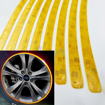 Waterproof Crystal Reflective Car Tape Wheel Rim Strip Sticker for Nissan Juke Jeep Renegade Toyota Styling Accessories image