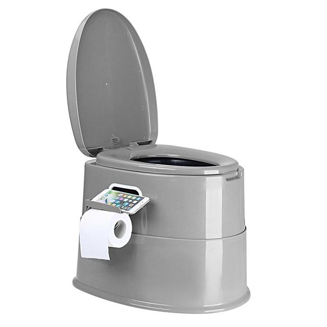 Portable toilet seat elderly pregnant home outdoor travel camping caravan movable toilet load 250kg adult children 42x50x40cm