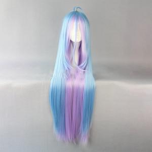 Image 4 - Hairjoy cabelo sintético shiro de nenhum jogo sem vida azul roxo misturado longa reta peruca cosplay frete grátis