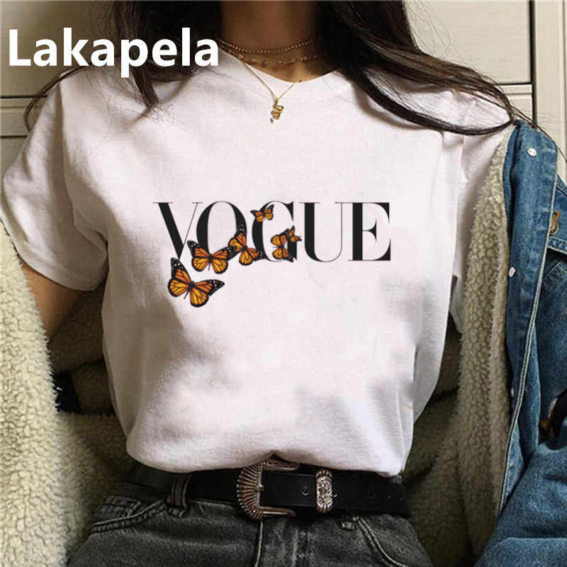 Sommer T-shirt Frauen Vogue Schmetterling Cartoon Mode Grafik T Shirts kurzarm Top Tees Koreanische T-shirt Drop schiff