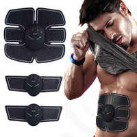 EMS Abdominal Muscle Stimulator Trainer Fitness Home Gym Electro Stimulation Body Slimming Belt Vibration Fitness Massager
