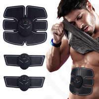 EMS Abdominal Muscle Stimulator Trainer Fitness Home Gym Electro Stimulation Body Slimming Belt Vibration Fitness Massager