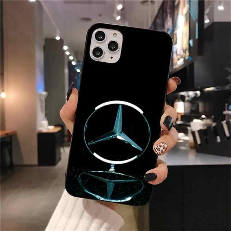 Lüks araba marka Mercedes telefonu kılıfı iPhone 11 pro XS MAX 8 7 6 6S artı X 5S SE 2020 XR durumda