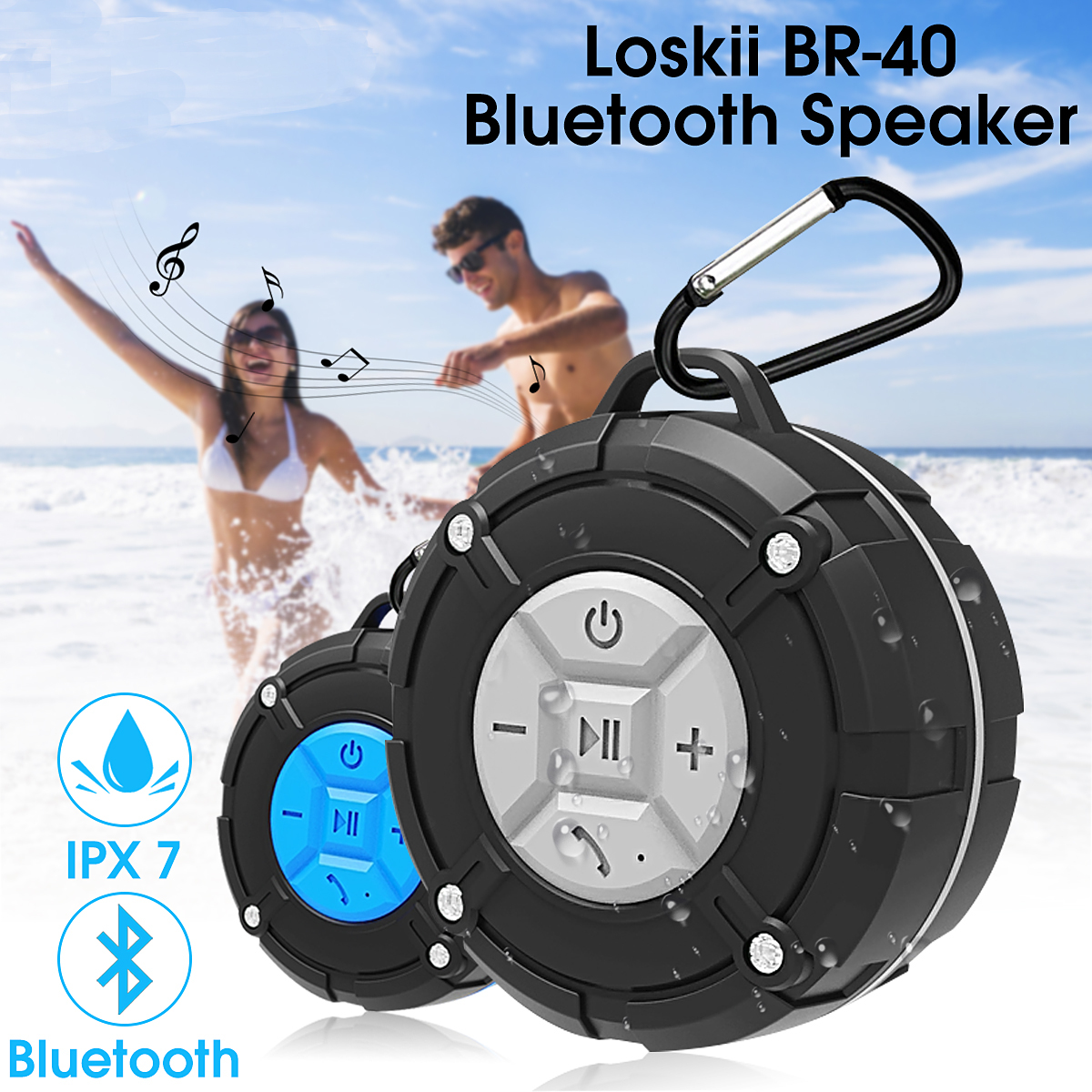 Outdoor Waterproof bluetooth Speaker IPX7 Portable Wireless Stereo Loudspeaker Shower Soundbar Bicycle Speakers with Suction Cup