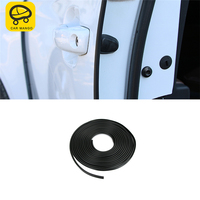 CARMANGO Car Styling Door Anti Collision Rubber Sealing Strip Protector Sticker Exterior Accessory for Audi Q3 8U 2016 2017 2018