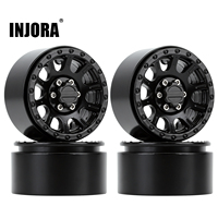 "INJORA 249g/pcs Heavy 2.2"" Beadlock Metal Wheel Rim for 1/10 RC Crawler Car Axial SCX10 90046 Wraith RR10 Traxxas TRX-6 1"