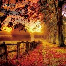 Laeacco осенний живописный Фотофон закат светящийся ЛЕС ДЕРЕВЬЯ