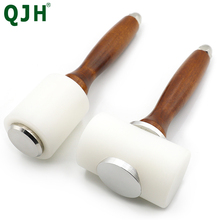 Professional Leather Carving Craft Hammer Tool Kit Cowhide Punch Cutting Sewing DIY Tools T /Longitudinal hammer Leather Punch