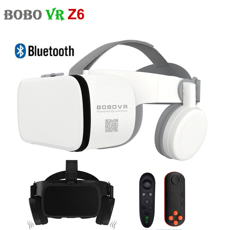 Vr-Headset-Helmet Smartphone Vr-Z6-Glasses Bluetooth Android Bobo Virtual-Reality 3D title=