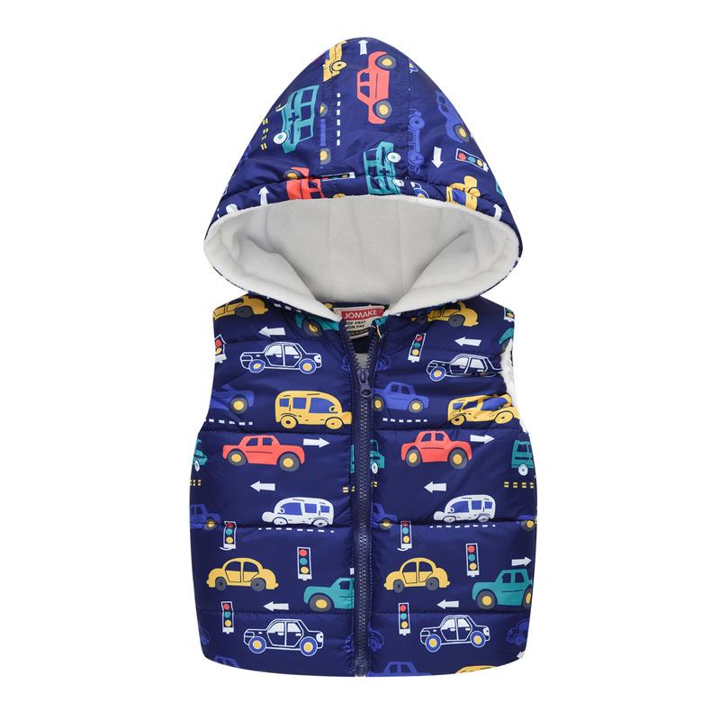 Baby Boys Girls Vest Hooded Jacket Kids Hooded Christmas Costume Clothes Children Autumn Warm Winter Waistcoat Outerwear Outfits 3