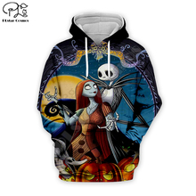 Jack Skelling Corpse Bride Moon print Men 3d Halloween Hoodies skull Pumpkin Christmas women Sweatshirt tshirt zipper pullover майка print bar jack skull