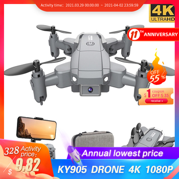 KY905 Mini Drone z kamerą 4K HD składane drony Quadcopter jednoprzyciskowy powrót FPV śledź mnie helikopter RC Quadrocopter zabawki dla dzieci tanie i dobre opinie DEEPAOWILL CN (pochodzenie) 100m 1080p FHD 720P HD 4K UHD inny Mode2 4 kanały Oryginalne pudełko na baterie Instrukcja obsługi